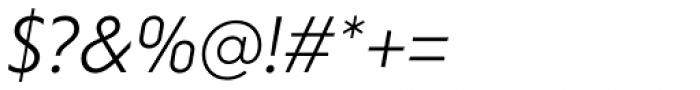 Niveau Grotesk Light Italic Font OTHER CHARS