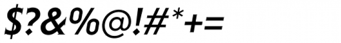 Niveau Serif Medium Italic Font OTHER CHARS