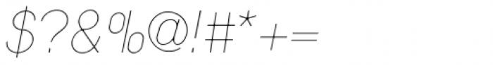 Nixin Ultra Light Italic Font OTHER CHARS