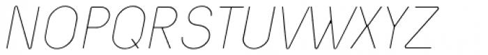 Nixin Ultra Light Italic Font UPPERCASE