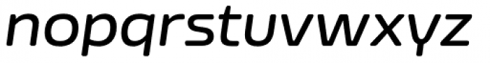 Nizzoli Rounded Semi Bold Italic Font LOWERCASE