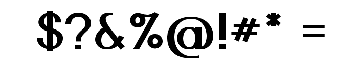 Nickel-Bold Font OTHER CHARS