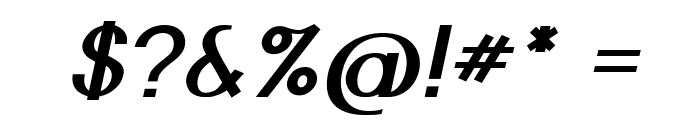 Nickel-BoldItalic Font OTHER CHARS