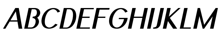 Nickel-BoldItalic Font UPPERCASE