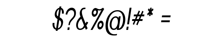 Nickel-CondensedItalic Font OTHER CHARS