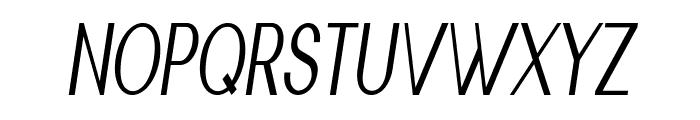 Nickel-CondensedItalic Font UPPERCASE