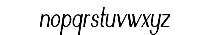 Nickel-CondensedItalic Font LOWERCASE