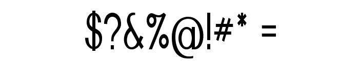 Nickel-CondensedRegular Font OTHER CHARS