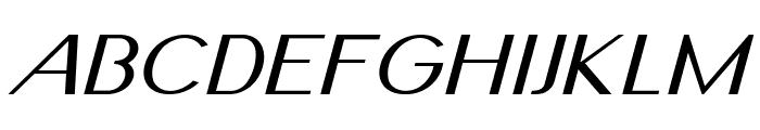 Nickel-ExpandedItalic Font UPPERCASE