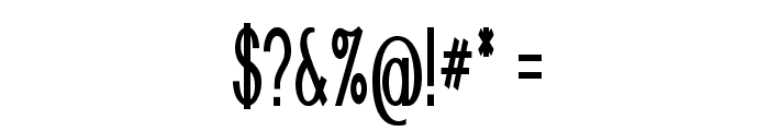 Nickel-ExtracondensedBold Font OTHER CHARS