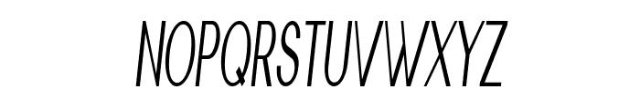 Nickel-ExtracondensedItalic Font UPPERCASE