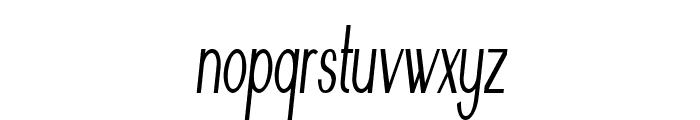 Nickel-ExtracondensedItalic Font LOWERCASE