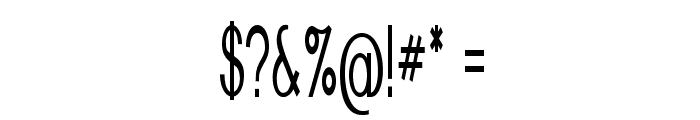 Nickel-ExtracondensedRegular Font OTHER CHARS