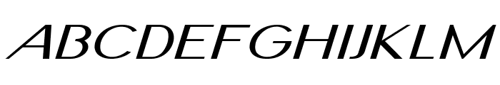 Nickel-ExtraexpandedItalic Font UPPERCASE