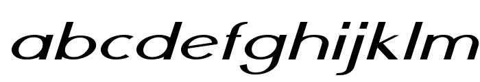 Nickel-ExtraexpandedItalic Font LOWERCASE