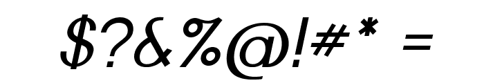 Nickel-Italic Font OTHER CHARS