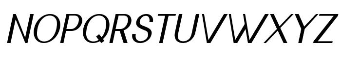 Nickel-Italic Font UPPERCASE