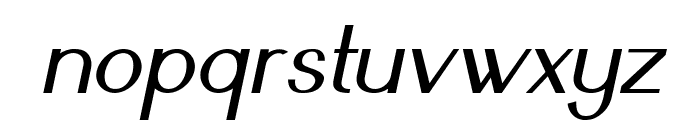 Nickel-Italic Font LOWERCASE