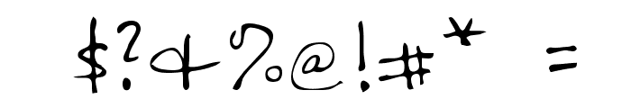 Nicolas Regular Font OTHER CHARS