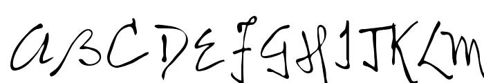 Nicolas Regular Font UPPERCASE
