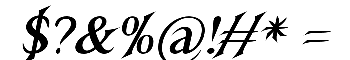 Nightshade-BoldItalic Font OTHER CHARS