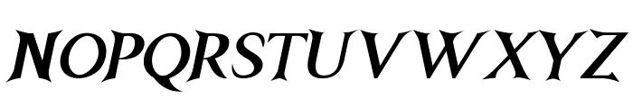 Nightshade-BoldItalic Font UPPERCASE