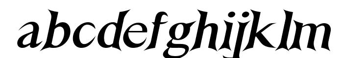 Nightshade-BoldItalic Font LOWERCASE