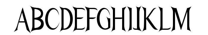 Nightshade-CondensedRegular Font UPPERCASE