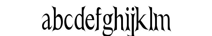 Nightshade-CondensedRegular Font LOWERCASE