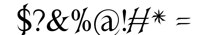 Nightshade Font OTHER CHARS