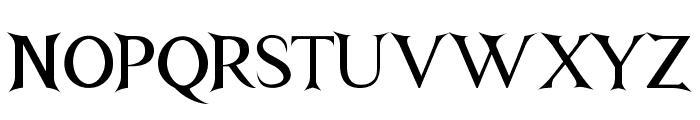 Nightshade Font UPPERCASE