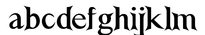 NightshadeBold Font LOWERCASE