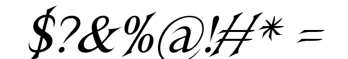 NightshadeItalic Font OTHER CHARS