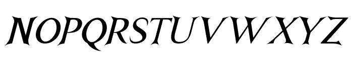 NightshadeItalic Font UPPERCASE