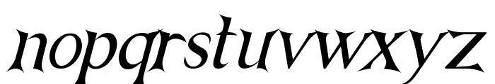 NightshadeItalic Font LOWERCASE