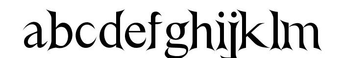 Nightshade Font LOWERCASE