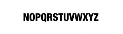 Nimbus Sans Novus Complete Condensed Heavy Font UPPERCASE