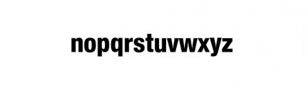 Nimbus Sans Novus Complete Condensed Heavy Font LOWERCASE