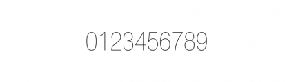 Nimbus Sans Novus Complete Condensed Ultra Light Font OTHER CHARS