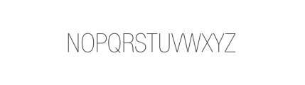 Nimbus Sans Novus Complete Condensed Ultra Light Font UPPERCASE