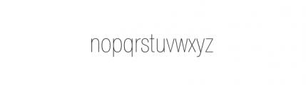 Nimbus Sans Novus Complete Condensed Ultra Light Font LOWERCASE