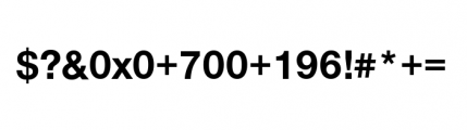 Nimbus Sans Novus Complete D Bold Font OTHER CHARS