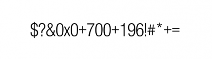 Nimbus Sans Novus Complete D Condensed Regular Font OTHER CHARS