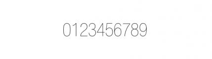 Nimbus Sans Novus Complete D Condensed Ultra Light Font OTHER CHARS