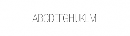 Nimbus Sans Novus Complete D Condensed Ultra Light Font UPPERCASE