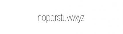 Nimbus Sans Novus Complete D Condensed Ultra Light Font LOWERCASE