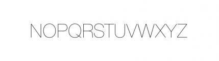 Nimbus Sans Novus Complete D Ultra Light Font UPPERCASE