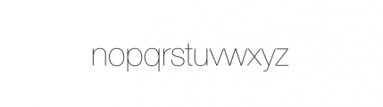 Nimbus Sans Novus Complete D Ultra Light Font LOWERCASE