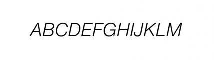 Nimbus Sans Novus Complete Italic Font UPPERCASE