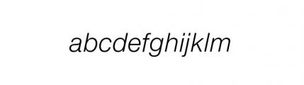 Nimbus Sans Novus Complete Italic Font LOWERCASE